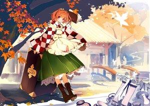 Rating: Safe Score: 81 Tags: autumn book boots bow leaves lia-sama motoori_kosuzu orange_hair red_eyes short_hair skirt touhou User: Flandre93