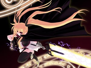 Rating: Safe Score: 26 Tags: fate_testarossa mahou_shoujo_lyrical_nanoha ribbons thighhighs User: Oyashiro-sama