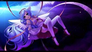 Rating: Safe Score: 86 Tags: angel aqua_eyes long_hair skirt thighhighs wings User: BoobMaster
