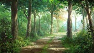Rating: Safe Score: 71 Tags: forest grass nobody original scenic tagme_(artist) tree User: RyuZU