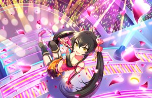 Rating: Safe Score: 29 Tags: annin_doufu black_hair boots bow garter_belt heart idolmaster idolmaster_cinderella_girls idolmaster_cinderella_girls_starlight_stage long_hair matoba_risa microphone navel necklace skirt stairs stockings tattoo thighhighs twintails yellow_eyes User: luckyluna