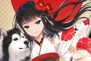 Rating: Safe Score: 73 Tags: animal black_hair close dog flowers green_eyes japanese_clothes kimono kurosawa_dia long_hair love_live!_school_idol_project love_live!_sunshine!! mignon waifu2x User: otaku_emmy