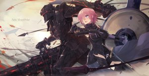 Rating: Safe Score: 59 Tags: armor blush breasts fate/grand_order fate_(series) fate/stay_night fate/zero gun lancelot_(fate) male mash_kyrielight mono_(jdaj) pink_hair purple_eyes short_hair thighhighs weapon User: BattlequeenYume