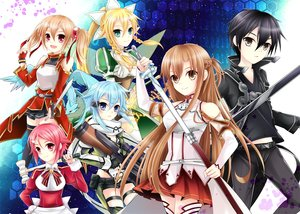 Rating: Safe Score: 22 Tags: aliasing aqua_hair armor ayano_keiko black_eyes black_hair blonde_hair blue_eyes braids breasts brown_eyes brown_hair dress elbow_gloves gloves green_eyes kirigaya_kazuto kirigaya_suguha long_hair male nadam pina pink_hair ponytail red_eyes shinon_(sao) shinozaki_rika short_hair shorts sword sword_art_online thighhighs twintails weapon yuuki_asuna User: RyuZU