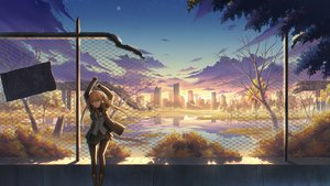 Rating: Safe Score: 35 Tags: anthropomorphism autumn blonde_hair boots building city girls_frontline long_hair pantyhose reflection ruins scenic skirt twintails ump-9_(girls_frontline) water zi_ye_(hbptcsg2) User: RyuZU