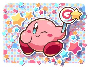 Rating: Safe Score: 25 Tags: candy kirby kirby_(character) lollipop ninjya_palette stars wink User: otaku_emmy