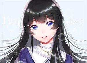 Rating: Safe Score: 57 Tags: black_hair blue_eyes braids bubbles close long_hair mizuiro32 necklace nijisanji tsukino_mito User: otaku_emmy