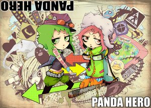 Rating: Safe Score: 18 Tags: gumi panda_hero_(vocaloid) vocaloid User: HawthorneKitty