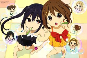 Rating: Safe Score: 25 Tags: akiyama_mio barefoot bikini black_hair blush brown_eyes brown_hair bubbles chibi group hirasawa_ui hirasawa_yui k-on! kotobuki_tsumugi long_hair nakano_azusa scan short_hair skirt suzuki_jun swimsuit tagme_(artist) tainaka_ritsu twintails wink User: RyuZU