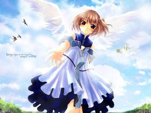 Rating: Safe Score: 5 Tags: angel_rabbie angelic_serenade bicolored_eyes lasty_farson naruse_chisato wings User: Oyashiro-sama