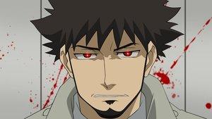 Rating: Safe Score: 3 Tags: all_male black_hair blood darker_than_black male shizume_genma short_hair vector User: RyuZU