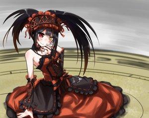 Rating: Safe Score: 202 Tags: bicolored_eyes black_hair breasts chawa_(yossui009) cleavage date_a_live dress tokisaki_kurumi User: Wiresetc