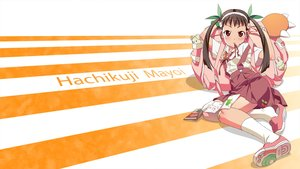 Rating: Safe Score: 30 Tags: bakemonogatari blush brown_eyes brown_hair hachikuji_mayoi headband loli long_hair monogatari_(series) socks tagme_(artist) twintails User: RyuZU