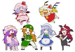 Rating: Safe Score: 11 Tags: blonde_hair blue_hair book bow braids brown_hair demon dress drink flandre_scarlet gray_hair group hong_meiling izayoi_sakuya koakuma long_hair maid pantyhose patchouli_knowledge pubic_hair red_hair remilia_scarlet short_hair tagme_(artist) touhou vampire wings User: RyuZU