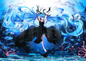 Rating: Safe Score: 105 Tags: barefoot blue_eyes blue_hair bubbles deep-sea_girl_(vocaloid) dress hatsune_miku litsvn long_hair signed twintails underwater vocaloid water User: FormX