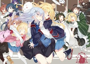 Rating: Safe Score: 93 Tags: alice_cartelet animal anko_(gochiusa) black_hair blonde_hair blue_eyes blue_hair brown_hair crossover crown doll gochuumon_wa_usagi_desu_ka? group gun headdress hoodie hoto_cocoa hug inokuma_yuko kafuu_chino karei_(hirameme) kiniro_mosaic kirima_sharo kneehighs komichi_aya kujou_karen long_hair maid oomiya_shinobu pantyhose purple_eyes purple_hair rabbit red_eyes school_uniform short_hair tedeza_rize thighhighs tippy_(gochiusa) twintails ujimatsu_chiya waitress weapon User: Flandre93