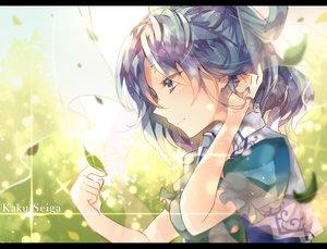 Rating: Safe Score: 102 Tags: blue_eyes blue_hair kaku_seiga leaves sweetroad touhou User: mattiasc02