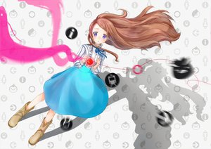 Rating: Safe Score: 43 Tags: apple brown_hair letta long_hair mawaru_penguindrum purple_eyes takakura_himari User: PAIIS