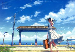 Rating: Safe Score: 87 Tags: blue_eyes clouds dress hat hisakata_souji scan sky water User: Wiresetc