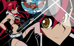 Rating: Safe Score: 15 Tags: bikini_top breasts gloves jpeg_artifacts long_hair red_hair shorts tengen_toppa_gurren_lagann thighhighs vector yellow_eyes yoko_littner zoom_layer User: Oyashiro-sama