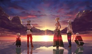 Rating: Safe Score: 62 Tags: animal_ears final_fantasy final_fantasy_xiv group male minfilia_warde papalymo_totolymo potion_lilac_(popopotionu) reflection sunset tail thancred_waters water yda_hext y'shtola_rhul User: SciFi