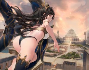 Rating: Safe Score: 91 Tags: ass black_hair building choseon city clouds cropped fate/grand_order fate_(series) ishtar_(fate/grand_order) long_hair red_eyes sky thighhighs User: BattlequeenYume