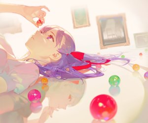 Rating: Safe Score: 85 Tags: asukaziye cropped dark_matou_sakura fate_(series) fate/stay_night gray_hair long_hair matou_sakura purple_eyes purple_hair red_eyes reflection ribbons User: otaku_emmy