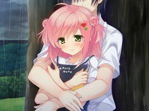 Rating: Safe Score: 45 Tags: game_cg hug rain sakura_no_reply tsukimori_chiyoko water User: Maboroshi