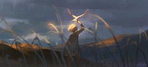 Rating: Safe Score: 39 Tags: alzi_xiaomi animal bird clouds dress grass original scenic short_hair signed sunset white_hair User: mattiasc02