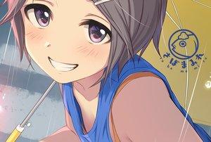 Rating: Safe Score: 19 Tags: black_hair blush close original purple_eyes short_hair tsukana_(saba_mizore) umbrella waifu2x watermark User: RyuZU