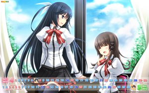 Rating: Safe Score: 64 Tags: calendar hulotte ikegami_akane makiya_kasumi saran_takamizawa school_uniform thighhighs with_ribbon User: Wiresetc