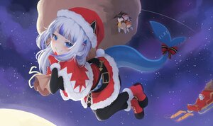 Rating: Safe Score: 47 Tags: blue_eyes christmas gawr_gura gray_hair hat hololive klaius long_hair santa_costume santa_hat User: Fepple