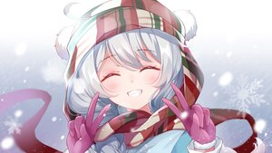 Rating: Safe Score: 24 Tags: blush braids close gloves gou_lianlian_dogface gradient gray_hair hat honkai_impact kiana_kaslana long_hair ponytail scarf snow User: Maboroshi