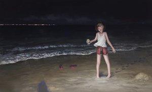 Rating: Safe Score: 33 Tags: beach dark fjsmu night original short_hair shorts water User: FormX