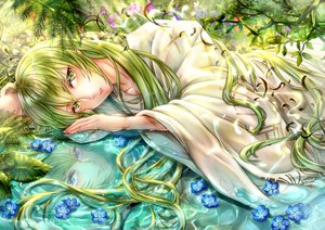 Rating: Safe Score: 7 Tags: all_male enkidu fate/grand_order fate_(series) green_eyes green_hair long_hair male reflection tamaso User: BattlequeenYume