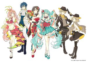 Rating: Safe Score: 25 Tags: akakura aliasing boots chinese_clothes cowgirl fan gloves gun hat hatsune_miku japanese_clothes kagamine_len kagamine_rin kaito male megurine_luka meiko navel vocaloid watermark weapon User: FormX