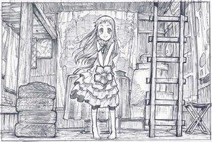 Rating: Safe Score: 46 Tags: ano_hi_mita_hana_no_namae_wo_bokutachi_wa_mada_shiranai barefoot dress flowers honma_meiko long_hair monochrome ribbons sketch zaxzero User: Kumacuda