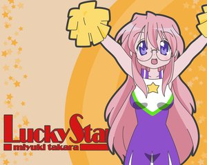 Rating: Safe Score: 18 Tags: cheerleader glasses long_hair lucky_star pink_hair takara_miyuki User: happygestapo