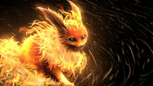 Rating: Safe Score: 96 Tags: flareon pokemon smile_(qd4nsvik) User: RyuZU