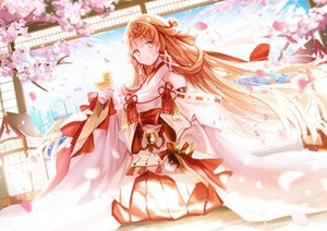 Rating: Safe Score: 36 Tags: cherry_blossoms code:_d-blood flowers japanese_clothes long_hair miko mullpull uesugi_eri User: BattlequeenYume