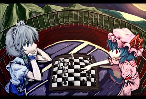 Rating: Safe Score: 55 Tags: izayoi_sakuya night remilia_scarlet touhou vampire User: Dust