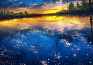Rating: Safe Score: 54 Tags: animal bird clouds landscape nobody original reflection scenic sky water y_y_(ysk_ygc) User: BattlequeenYume