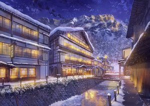 Rating: Safe Score: 58 Tags: building landscape night niko_p nobody original scenic signed snow water winter User: RyuZU