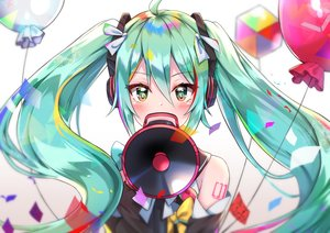 Rating: Safe Score: 54 Tags: blush close cuna_(qunya) green_eyes green_hair hatsune_miku headphones long_hair magical_mirai_(vocaloid) tattoo twintails vocaloid User: otaku_emmy