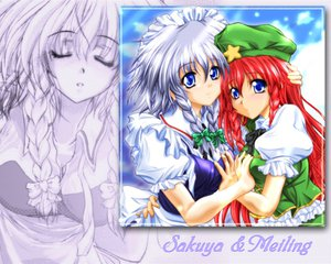 Rating: Safe Score: 7 Tags: breast_grab hong_meiling hug izayoi_sakuya maid touhou User: Oyashiro-sama