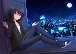 Rating: Safe Score: 152 Tags: black_hair building city kazenokaze magic moon naria_(nayrman) night original purple_eyes scenic short_hair User: mattiasc02