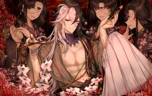 Rating: Safe Score: 16 Tags: ashiya_douman bell black_eyes black_hair doll drink fate/grand_order fate_(series) flowers group japanese_clothes kimono long_hair male mask open_shirt paper puppet purionpurion sake short_hair wristwear User: otaku_emmy