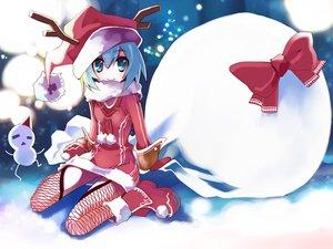 Rating: Safe Score: 107 Tags: christmas cirno hat touhou ushiki_yoshitaka User: Oyashiro-sama