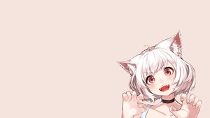 Rating: Safe Score: 78 Tags: animal_ears blush catgirl cat_smile hoshi_usagi original photoshop red_eyes short_hair white_hair User: SciFi