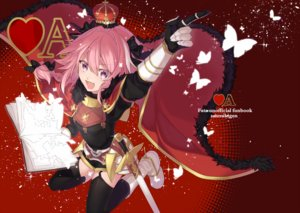 Rating: Safe Score: 35 Tags: all_male armor astolfo book boots braids butterfly cape citron_82 crown fang fate/grand_order fate_(series) garter_belt gloves long_hair male pink_eyes pink_hair ponytail red stockings sword thighhighs trap weapon User: otaku_emmy